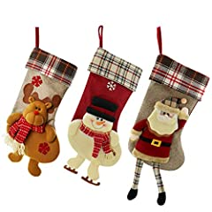 Idea Regalo - SueH Design Set 3 Pezzi Calza di Natale 48cm