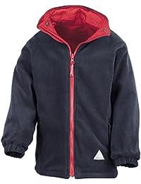Result Childrens Kids School Storm Waterproof Reversible Fleece Coat Jackets