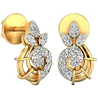 PC Jeweller The Agnetha 18KT Yellow Gold & Diamond Earring
