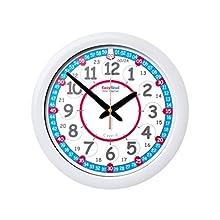EasyRead time teacher ERC-RB-24Â Horloge Murale pour Enfants, Rouge et Bleu 12-24 Heures