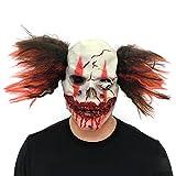 Pretty-jin Halloween Maske Cover Horror Clown Latex Maske Erwachsene Scary Maske Halloween Kostüm Kopfbedeckungen Glatze und Haare Produkt Größe 25x 20,00 cm