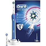 Oral-B Pro 3000 CrossAction Electric Rechargeable Toothbrush Powered by Braun