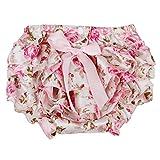 Culotte Bloomer Couvre-couche Prop Photographie pour Bébé Fille 0-24m Rose Floral