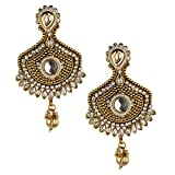 Bridesmaid Gold Plated White Earring