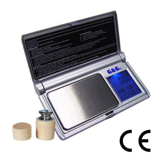 G & G BS+G 50g/0,005g Taschenwaage + Kalibriergewicht (GRATIS!) Feinwaage Digitalwaage Goldwaage Münzwaage Scale
