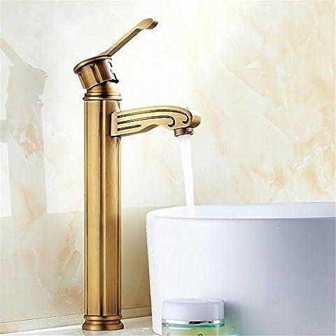 Modylee Rubinetto del bagno, lavabo in ottone antico bagno Mixer Tap singolo gestire rubinetto del bacino. Bacino di ponte montato tocca