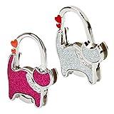 Sharplace 2pcs Kreative Katze Muster Faltbar Handtaschenhalter Taschenhalter Taschenhaken Geschenkidee für Frau, Freundin, Mutter und Tochter - Rosa + Silber