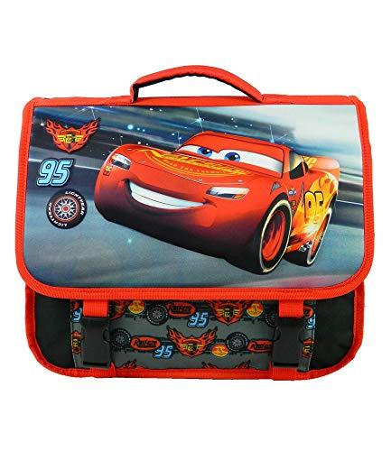 Cartable 38 Cm Cars MacQueen Noir Et Rouge Disney