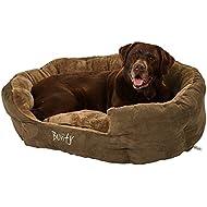 Bunty Polar Dog Bed Soft Washable Fleece Fur Cushion Warm Luxury Pet Basket - X-Large - Made in the UK