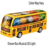Bus Toys For Kids Bump And Go Action Color May Vary