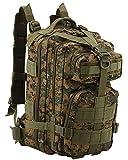 Melotfast Wasserdicht Assault Pack Molle Militaer Armee Praktischer Rucksack Gross Taktischer Cooper Rucksack Trekkingrucksack Wanderrucksack(Digital Woodland)