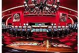 Ruvitex 3D Belag Dekor Boden Vinyl PVC-Bodenbelag Casino Teppich Gaming Aufkleber Spielhalle Pokerraum Zubehör Live Lebendige 200cm x 300cm x 1.5mm