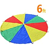 Sonyabecca Play Tents Kids Game 210T Play Parachute Indoor&Outdoor(6FT/20FT)