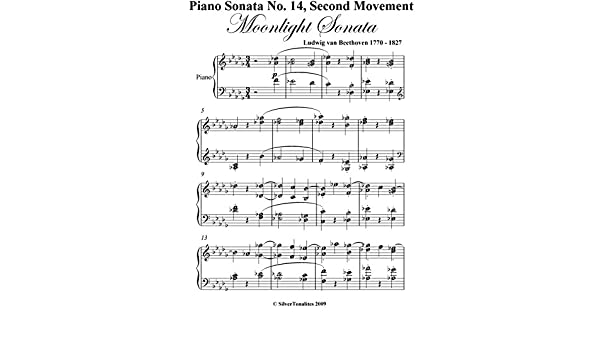 Moonlight Sonata Second Mvt Beethoven Intermediate Piano