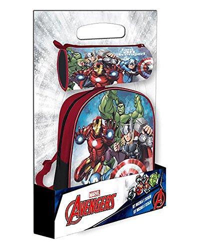 Set portatodo + mochila 28cm Vengadores Marvel