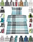 Microfaser Bettwäsche Set 2 Größen viele schöne Designs, 135x200 cm Kissenbezug 80x80 cm Adam
