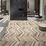 Pingtr - Holz Aufkleber Selbstklebende Bodenbelag Aufkleber Simulation Holz Boden Aufkleber Küche Schlafzimmer Wohnzimmer Boden PVC Aufklebe(20X100cm)