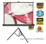 #2: ELCOR Tripod Type Projector Screen 6 Ft. (Width) x 4 Ft. (Height) In Imported High Gain Fabric, Comes With Tripod Stand, Supports 3 D and Full HDTV