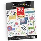 ARTEZA Kids Blocco per Pittura ad Acquerelli 22,9 x 30,5 cm, 30 Fogli di Carta Pesante 200g/m², Ideale per Bambini per i Lavori ad Acquerello e a Tecnica Mista