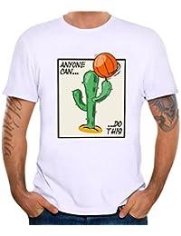 Yvelands Printing Tees Shirt Moda para Hombre Guapo Funny O-Cuello Modal Durable Manga Corta