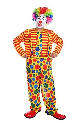 NiSeng Halloween Clown Kostüm erwachsene mit Tupfen Hose clown faschingskostüm kostüme karneval für Cosplay Orange (Erwachsene Lustige Herren Kostüme)