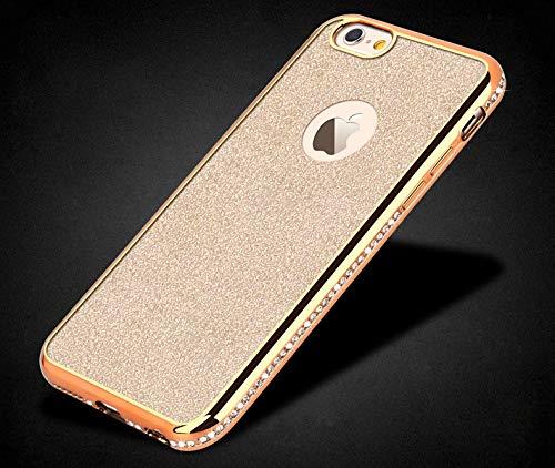 Artfeel Bling Glitzer Hülle für iPhone 7 Plus,iPhone 8 Plus Hülle, Glänzend Diamant Kristall Strass Ultra Dünn Weich Silikon Handyhülle,Luxus Überzug Rahmen Bumper Stoßfest Schutzhülle-Gold -
