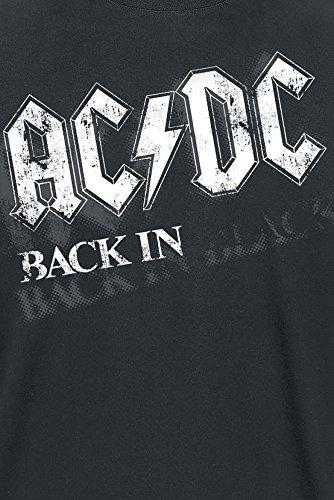 AC/DC Back In Black - Bar Tab T-Shirt schwarz Schwarz