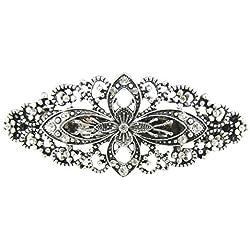 Glamour Girlz Damen Metall Vintage Look 8cm Haarspange