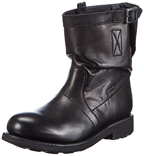 Bikkembergs Vintage 716 L.Boot W Dyed Leat Scarpe a collo alto, Donna, Nero, 38