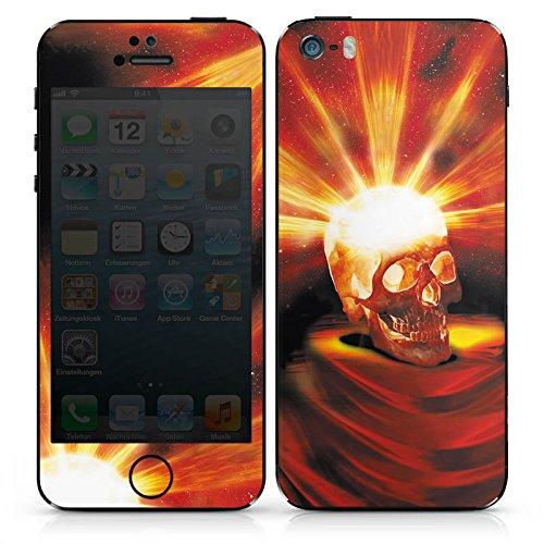 Apple iPhone 4s Case Skin Sticker aus Vinyl-Folie Aufkleber Totenkopf Halloween Asche DesignSkins® glänzend