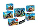 PLAYMOBIL® Steinzeit Set 5100,5101,5102,5103,5104,5105+Playmobil Schlamperrolle