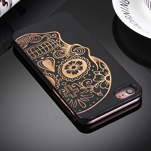 iPhone Case Cover Pour iPhone 7 Artistic Eight Pétale Fleur Motif Bambou Noir + PC Bordure Protective Back Case Coque ( SKU : IP7G0916G ) IP7G0916E