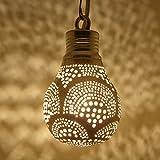 Orientalische Lampe marokkanische Deckenleuchte | Echtes Kunsthandwerk | Handgefertigte Leuchte Hängelampe Pendellampe | Prachtvolle Lampe für tolle Lichteffekte wie aus 1001 Nacht | Martil