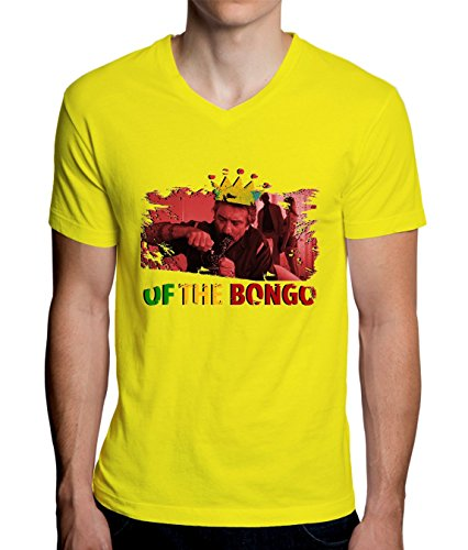 King Of The Bongo Rasta De Niro Design Men's V-Neck T-Shirt XX-Large