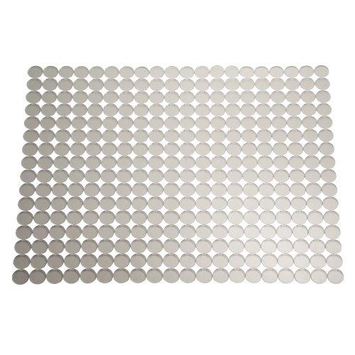 InterDesign Orbz Salvaplatos para fregaderos de cocina, gran alfombrilla escurreplatos recortable en plástico, transparente