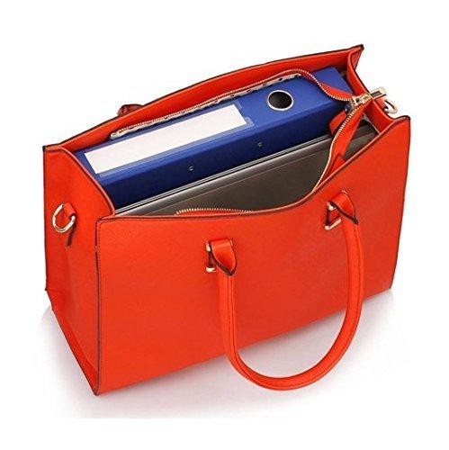 Damen Handtasche Schultertasche Tasche Large Umhängetasche Entwerfer Shopper Henkeltasche, Neu (Schwarz) - 5