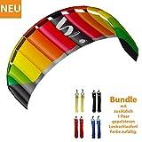 HQ Lenkdrachen Lenkmatte Drachen Symphony Pro 2.5 Rainbow Bundle Kite