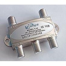 Conmutador DiSEqC satélite Interruptor 2.0 4x1 Sat Integral T-42