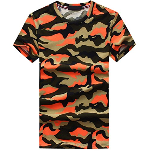 Zhuhaitf Classico Mens Round Collar T-Shirts Cotton & Soft Camouflage
