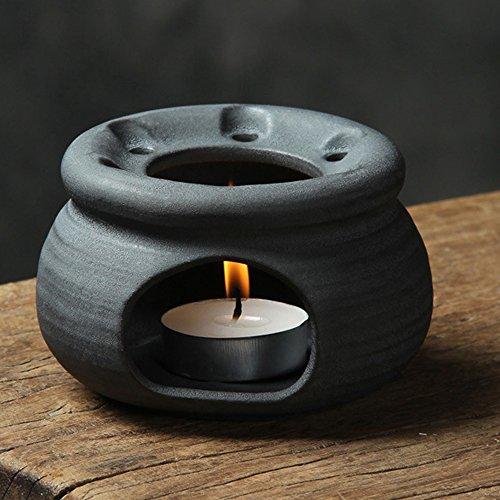 TAMUME Schwarz Gusseisen Teekanne Wärmer, Geeignet für alle Arten von Teekanne Stövchen Porzellan (Klassisch)