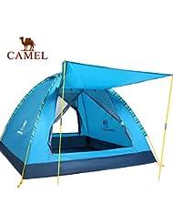engranaje al aire libre Camel tienda al aire libre tienda de campaña de tres lluvia sola tienda al aire libre