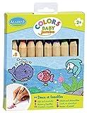 Aladine - 42009 - 8 Crayons De Couleur - Jumbo