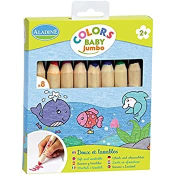 Aladine 42009 - 8 Crayons De Couleur - Jumbo