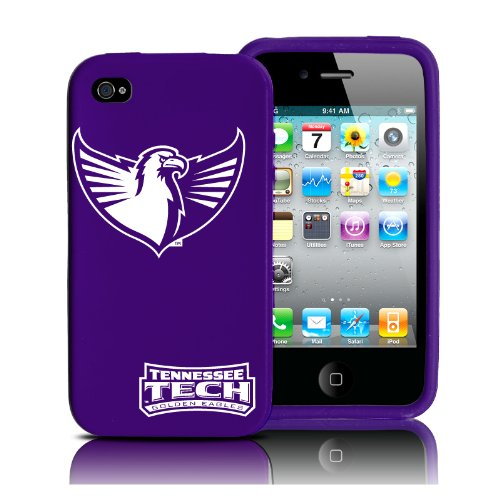Silikon Schutzhülle für iPhone 4/4S - Tennessee Tech Golden Eagles - Retro Serie - Lila - für at & T, Verizon, Sprint, entsperrt (Verizon I Phone 4)