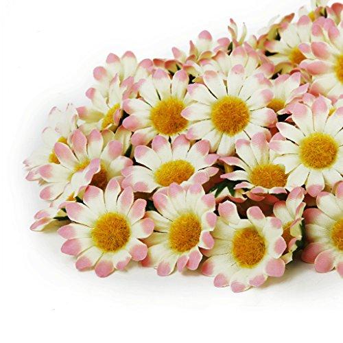 hen Gerberagänseblümchenblumen Bluemn Köpfe Für Hochzeit - Hellrosa Gradient (Rote Weiße Und Blaue-blumen-stirnband)