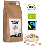 Bio Fairtrade Erdnüsse: Roh & Blanchiert (600g)