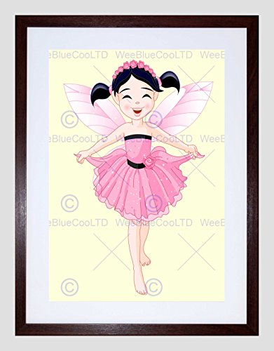 INA PINK DRESS TUTU WINGS KIDS BEDROOM ART PRINT B12X13401 (Baby Fairy Wings)