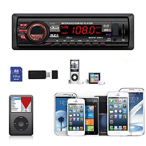 Tongshi Car Stereo Bluetooth Entrada auxiliar USB / SD / FM MP3 Receptor del jugador en el tablero de 8268