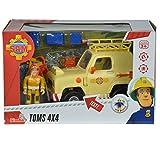 Unbekannt Sam Tom's 4x4 Geländewagen mit Licht und 1 Figur • Feuerwehrmann Auto Figuren Spielzeug Wagen Feuerwehr Spiel