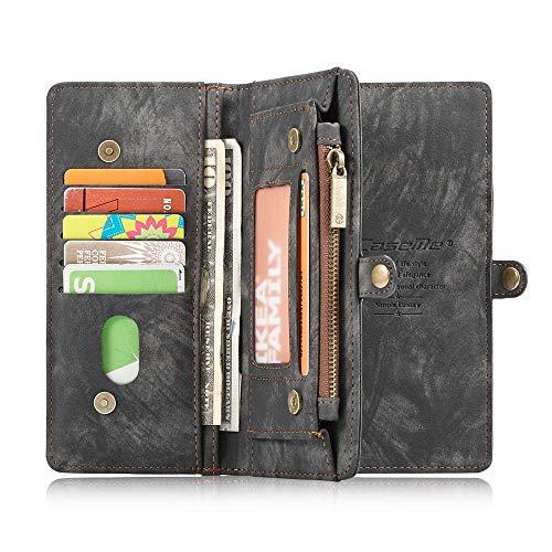 SITCO Samsung Galaxy S9 portefeuille en cuir flip cas détachable couverture arrière fermeture à glissière affaire aimant couverture arrière téléphone poche